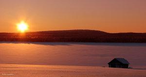 Solnedgång Tornedalen Armasjärvi