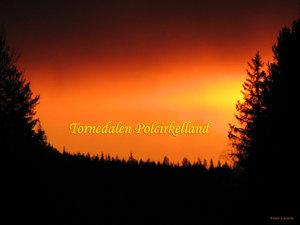 Solnedgång Tornedalen Hedenäset