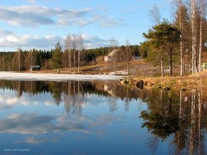 Vårbild Tornedalen Persomajärvi