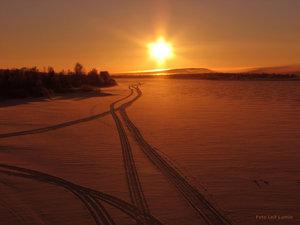 Solnedgång över Torneälv