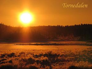 Solnedgång Övertorneå Särkijärvi