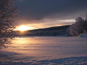 Morgonsol Tornedalen Hedenäset