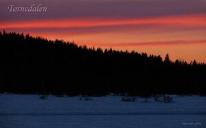 Skymningshimmel Tornedalen Armasjärvi