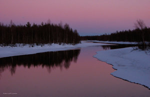 Skymning Tornedalen Armasjoki