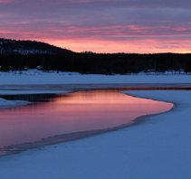 Skymning Tornedalen Armasjärvi