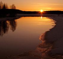 Solnedgång Tornedalen Armasjoki