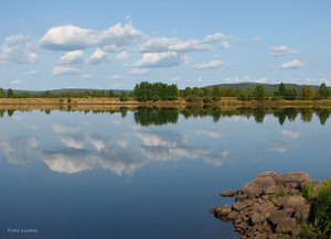 Spegelblank Torneälv Hedenäset
