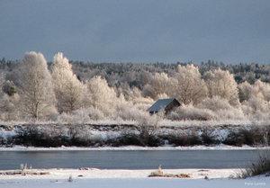 Landskap i vinterskrud