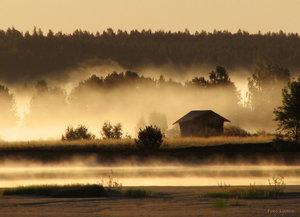 Morgondimma Torneälv Hedenäset