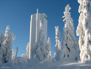 Utsiktstornet på Aavasaksas topp.