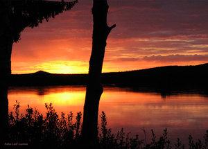 Midnattssol Torneälv Hedenäset