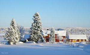 Tornedalen vintervy Risudden