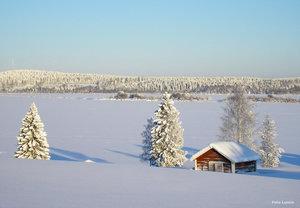 Vy över Torneälv Risudden