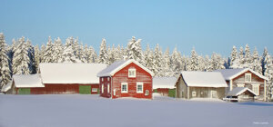 Vintervy Tornedalen Bäckesta