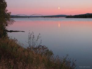 Kvällsrodnad över Torneälv