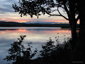Solnedgång Torneälv